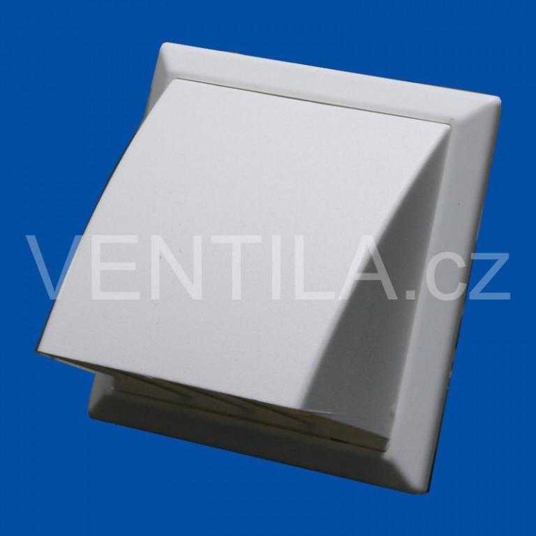 Větrací mřížka protidešťová bíla VP 100/154x154 HPMb