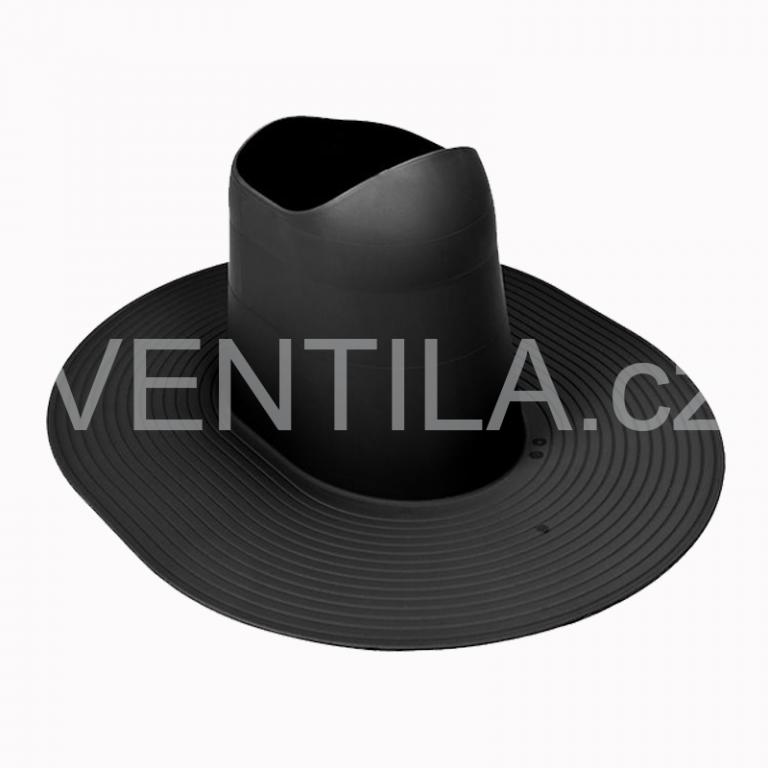 Průchodový prvek - asfaltové a PVC krytiny HL 200, DN 110-160 mm / Barva: Černá RAL9005
