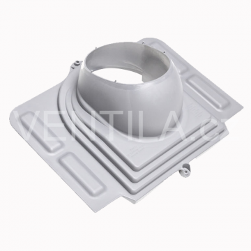Průchodový prvek - profilované plechy - UNI, DN 110-160 mm - Světle šedá RAL7040
