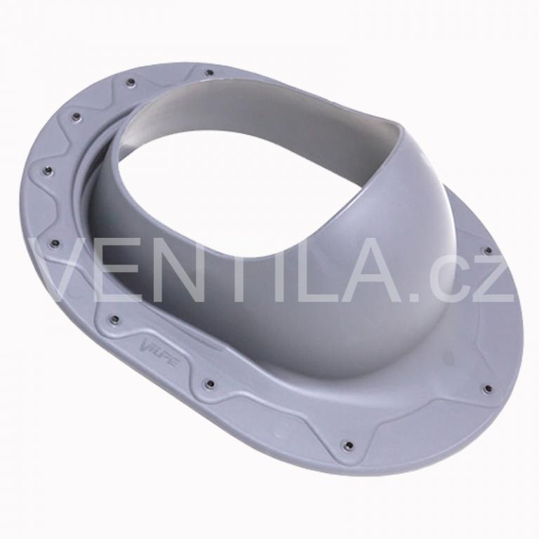 Průchodový prvek - rovný plech - CLASSIC, DN 110-160 mm - Světle šedá RAL7040