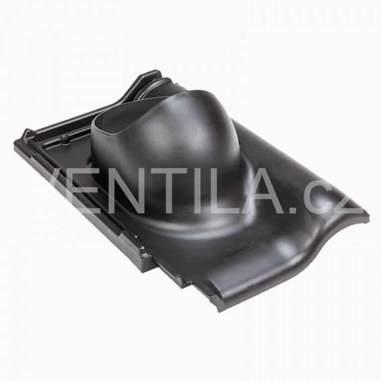 Průchodový prvek - keramické tašky - ROBEN MONZA PLUS, DN 110-160 mm - Černá RAL9005