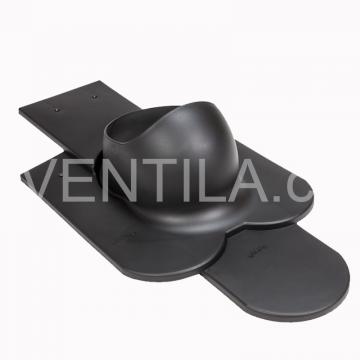 Průchodový prvek - hladké keramické tašky - PT20, DN 110-160 mm - Černá RAL9005