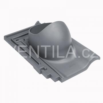 Průchodový prvek - keramické tašky - CREATON PREMION, DN 110-160 mm - Černá RAL9005