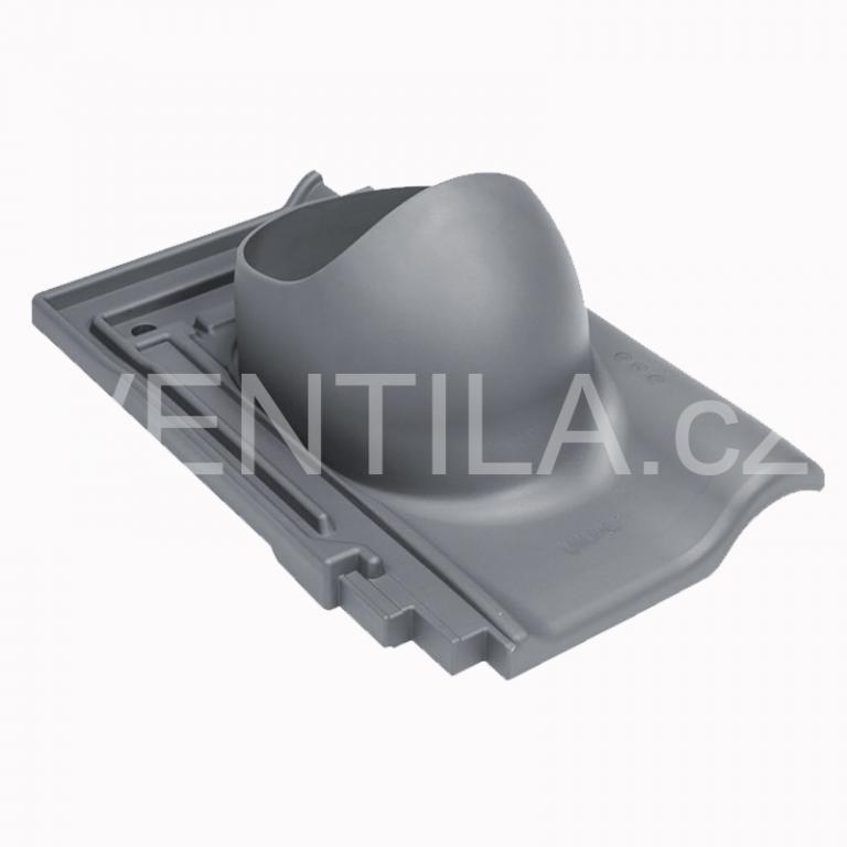 Průchodový prvek - keramické tašky - ROBEN PIEMONTE, DN 110-160 mm - Černá RAL9005