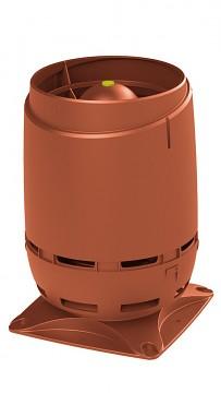Odvětrávací vývod VILPE® 125S FLOW + montážní deska 250X250, cihlová RAL 8004