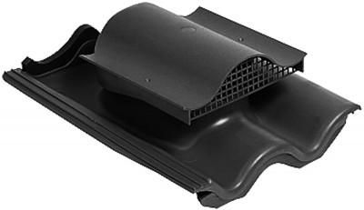 KTV ventilační prvek pro betonovou tašku, černá RAL 9005